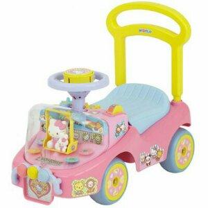 野中の押し手付乗用玩具を使用した感想!機関車トーマス、ハローキティ、いないいないばあっ