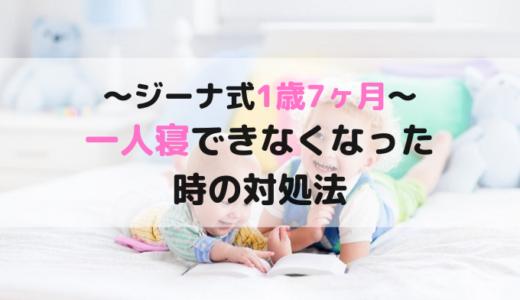 ジーナ式1歳7ヶ月の悩み相談【添い寝したら一人寝できなくなってギャン泣き】