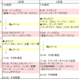 1歳子連れグアム3泊4日日程表!リアルなスケジュールと体験記・前編